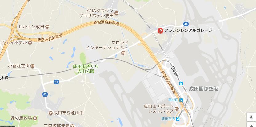 アラジンレンタルガレージの地図