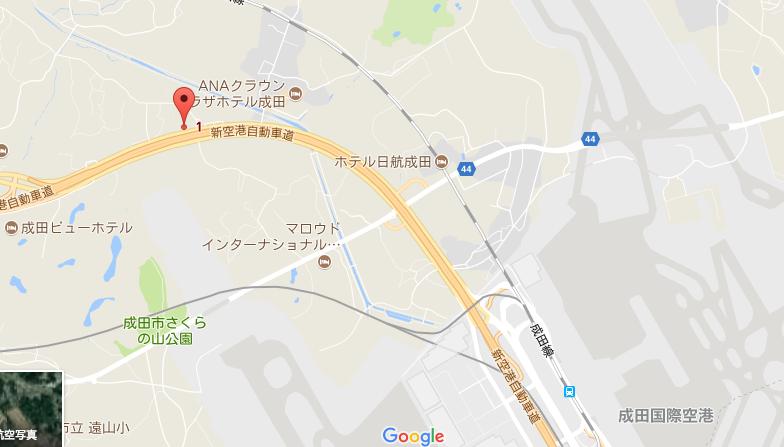 GOGOパーキングの地図