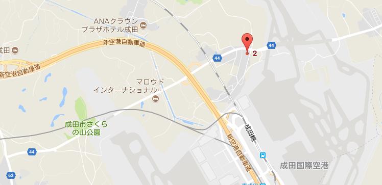 成田空港パーキングの地図