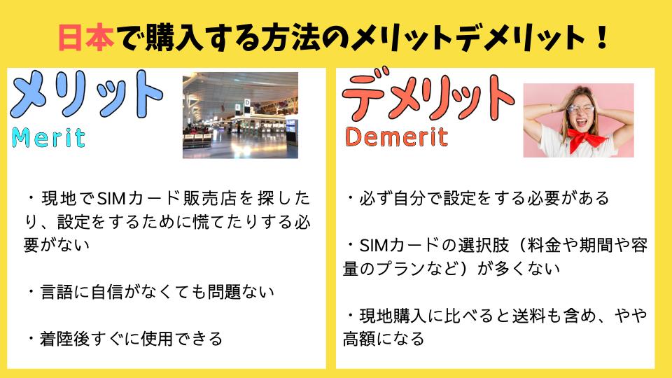 日本で購入する場合のメリットデメリット